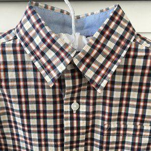 Janie and Jack Plaid Poplin Long Sleeve Boys Shirt